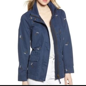 Madewell embroidered cotton utility cargo jacket